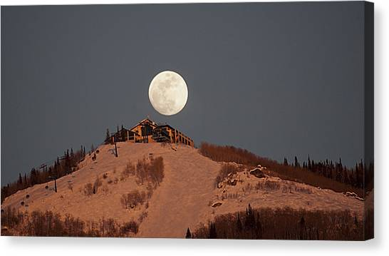 Full Moon Over Hazies Canvas Print
