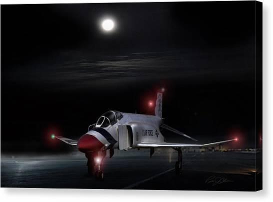Sidewinders Canvas Print - Full Moon Phantom by Peter Chilelli