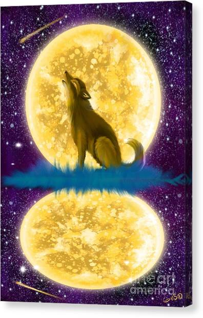 Wolf Moon Canvas Print - Full Moon Reflections by Nick Gustafson