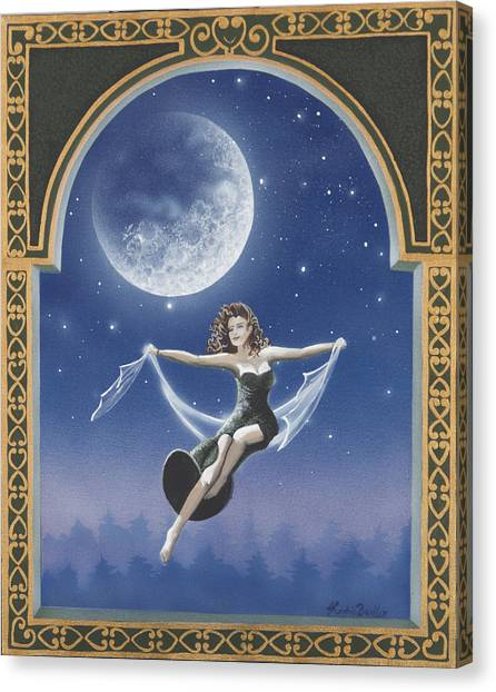 Full Moon Swing Canvas Print by Nickie Bradley