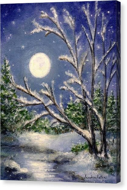 Full Snow Moon Canvas Print