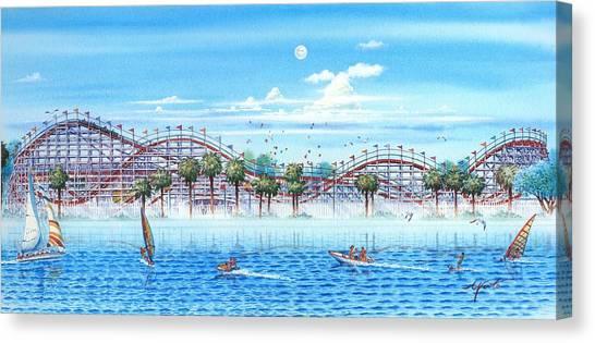 Mission San Diego Canvas Print - Fun At Mission Bay by John YATO