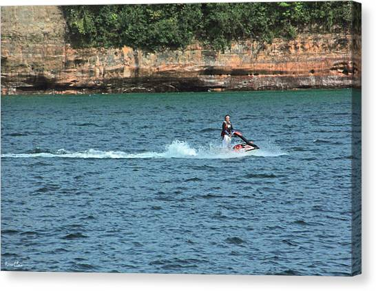 Fun At Pictured Rocks Canvas Print