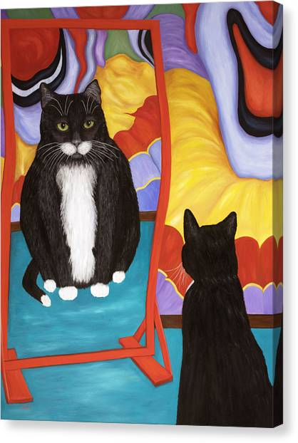 Fun House Fat Cat Canvas Print