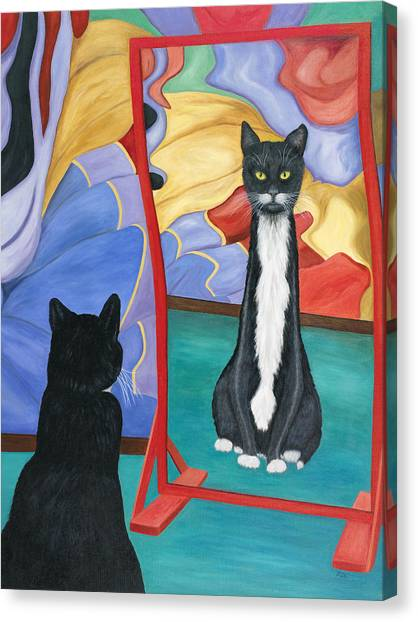 Fun House Skinny Cat Canvas Print