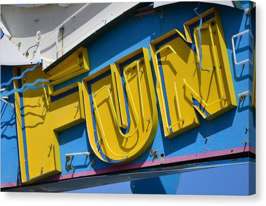 Fun In Seaside Heights Nj Canvas Print