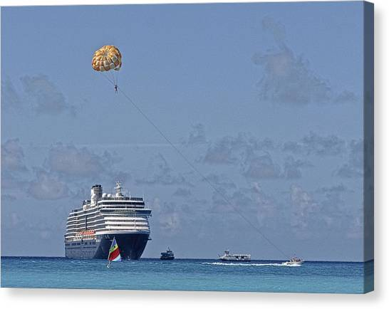 Fun In The Sun - Ship At Anchor Canvas Print