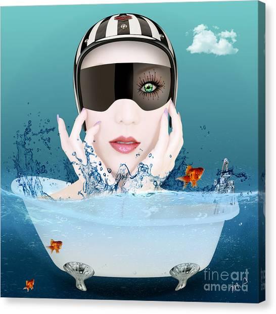 Surreal Digital Art Canvas Print - Fun Time  by Mark Ashkenazi