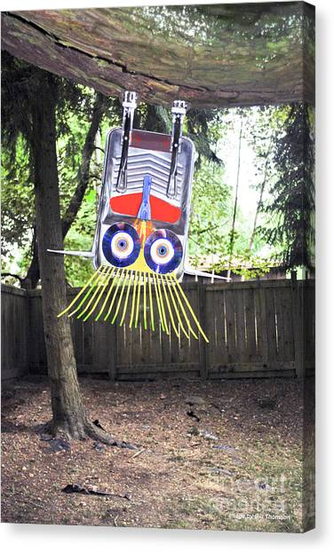 Junk Canvas Print - Fun To Hang Upside Down From A Tree by Bill Thomson