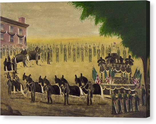 Republican Presidents Canvas Print - Funeral Car Of President Lincoln Circa 1879 by Aged Pixel