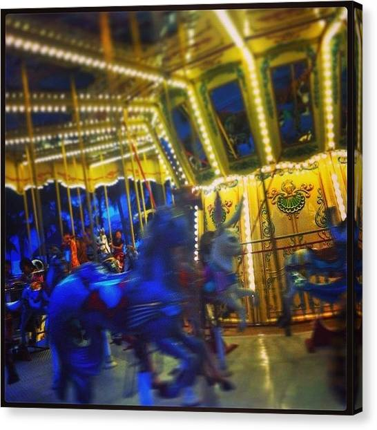 Law Enforcement Canvas Print - #funfair #carousel #merrygoround by Darren O' Dea