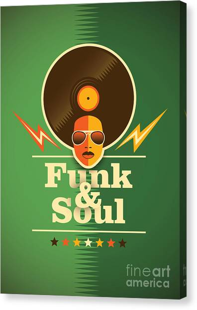 Funk And Soul Poster. Vector Canvas Print by Radoman Durkovic