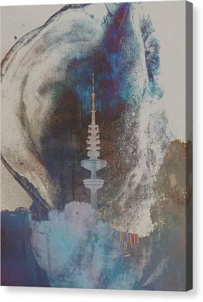 Funkturm Canvas Print by Peter Norden