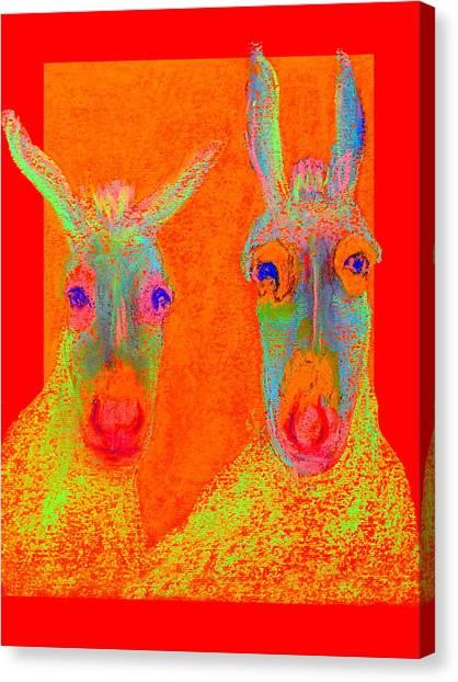 Funky Donkeys Art Prints Canvas Print