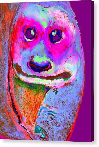 Funky Meerkat Tunnel Art Print Canvas Print