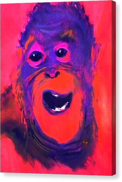 Funky Monkey Happy Chappy Canvas Print