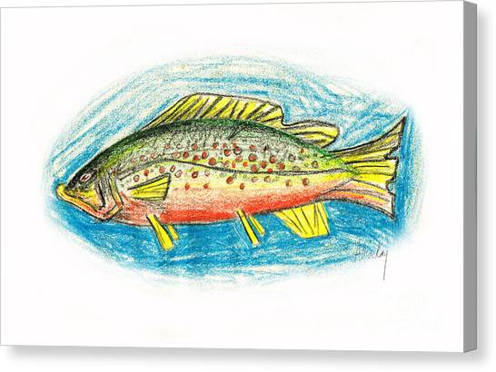 Funky Trout Canvas Print