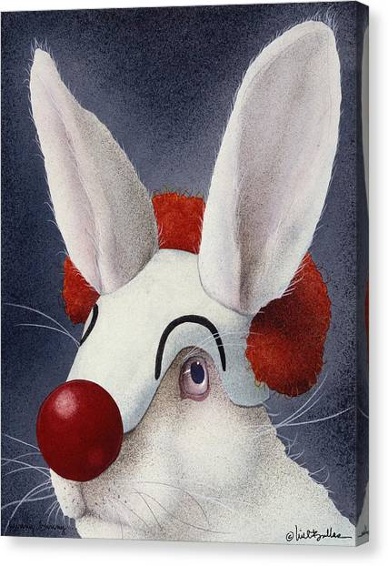 Funny Bunny... Canvas Print by Will Bullas