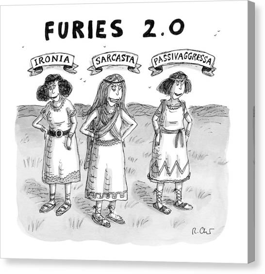 Furies 2.0 -- Ironia Canvas Print