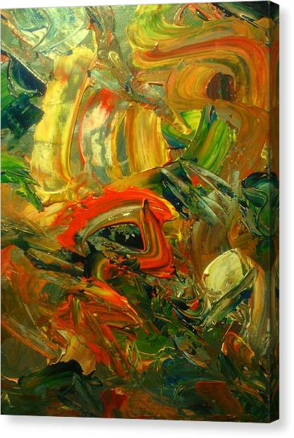 Canvas Print featuring the painting Furious Brush by Ray Khalife