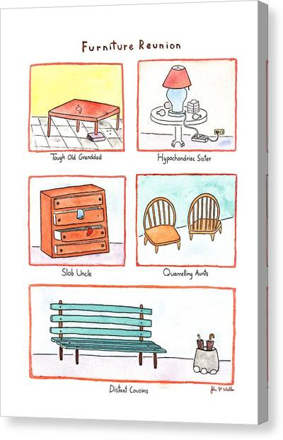 Furniture Reunion Canvas Print