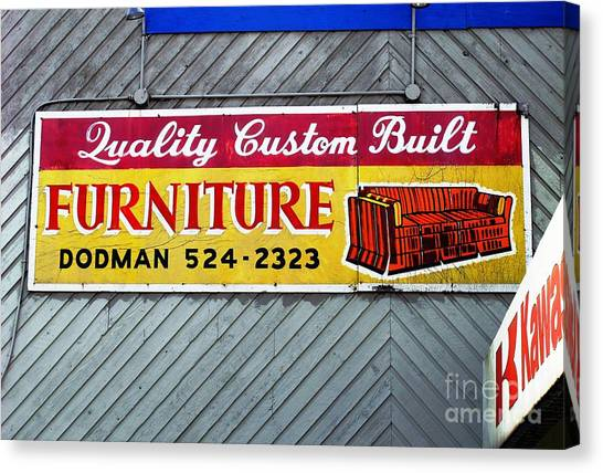 Furniture Sign Canvas Print