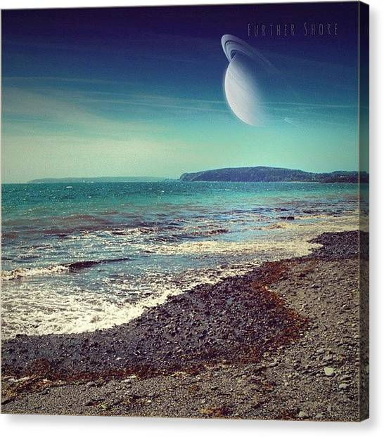 Saturn Canvas Print - Further #shore. .. #coverartfake #scifi by Alexandra Cook