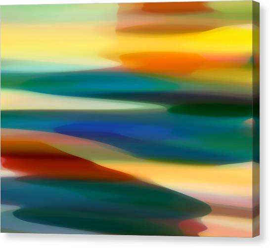 Abstract Seascape Canvas Print - Fury Seascape 4 by Amy Vangsgard