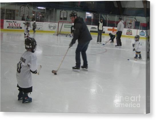 Future Hockey Players Canvas Print