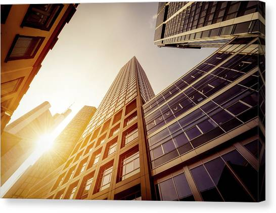 Futuristic Office Buildings Canvas Print by Ppampicture
