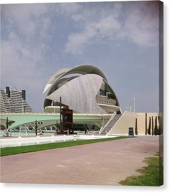 Futurism Canvas Print - Futuristic!  #valencia #travel by Qin Xie