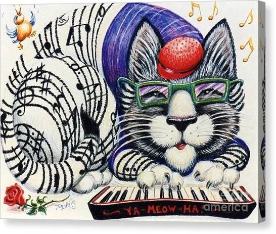 Fuzzy Catterwailen Canvas Print