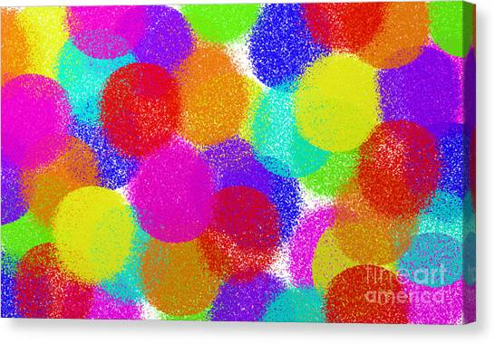 Fuzzy Canvas Print - Fuzzy Polka Dots by Andee Design