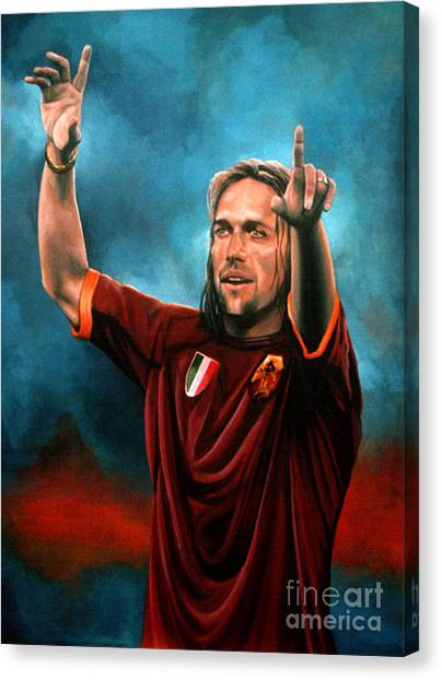 World Cup Canvas Print - Gabriel Batistuta by Paul Meijering
