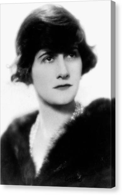 Carousel Collection Canvas Print - Gabrielle 'coco' Chanel (1883-1971) by Granger