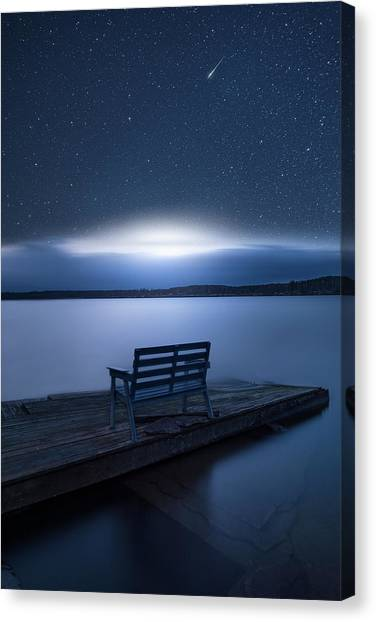 Galactic Impact Canvas Print by Christian Lindsten