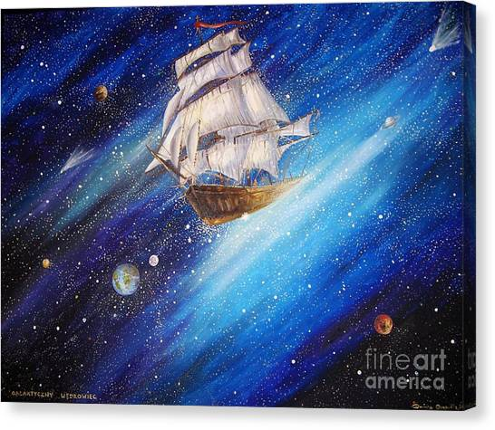 Galactic Traveler Canvas Print