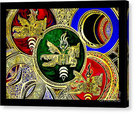 Galactic Windhorses Canvas Print