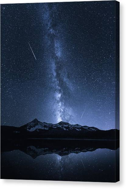 United Way Canvas Print - Galaxies Reflection by Toby Harriman