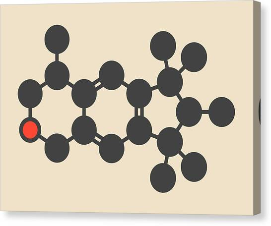 Galaxolide Synthetic Musk Molecule Canvas Print by Molekuul