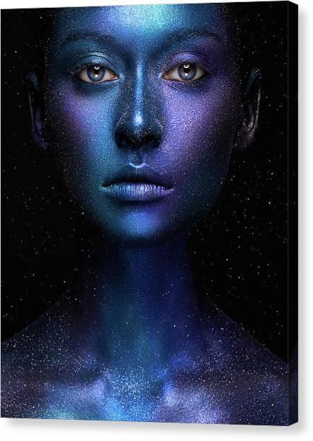 Alien Eyes Canvas Print - Galaxy by Alex Malikov