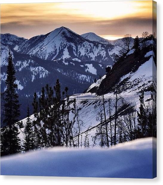 Sunset Canvas Print - #galena #sunsets #idaho #mountains by Cody Haskell