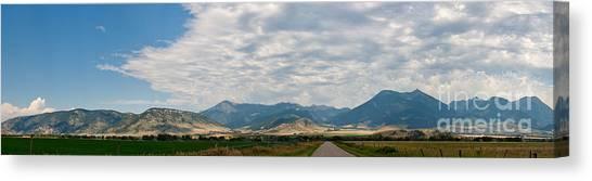 Gallatin Range Panoramic Canvas Print