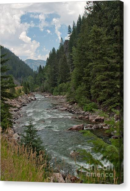 Gallatin River Ripples Canvas Print