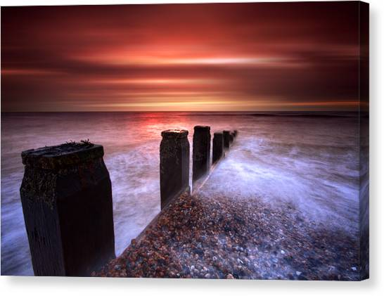 Galley Hill Sunrise Canvas Print by Mark Leader