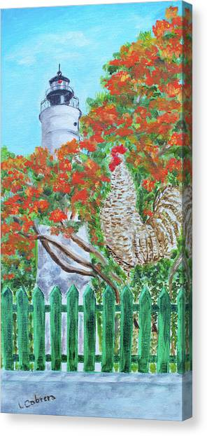 Gallo Pinto Rooster Canvas Print