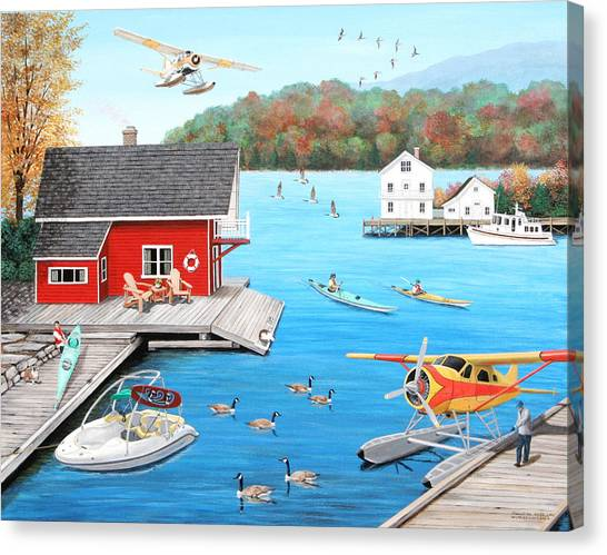 Galloping Goose Lake Canvas Print