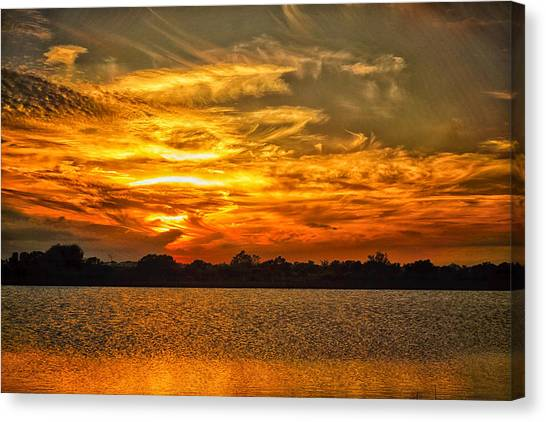Galveston Island Sunset Dsc02805 Canvas Print