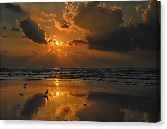 Galveston Sunrise Canvas Print