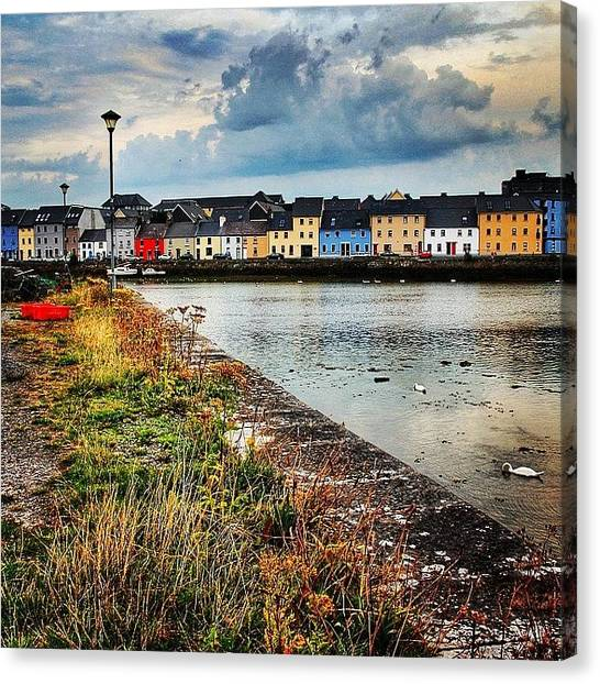 Ireland Canvas Print - #galway #ireland #city #cityscape by Luisa Azzolini